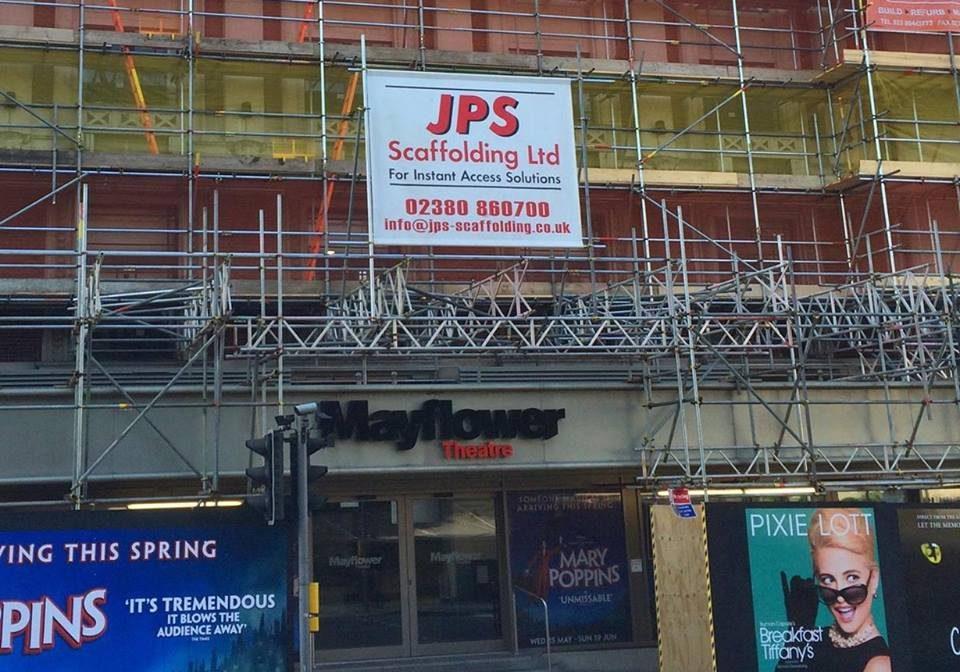 JPS Scaffolding sign